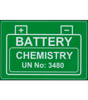 Lithium Battery UN 3480 engraved label