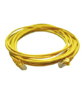 Cat5e UTP patch cord, 10.0m, Yellow