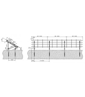 Ground Mount Array: 34 x 60 cell panels (ground screws)